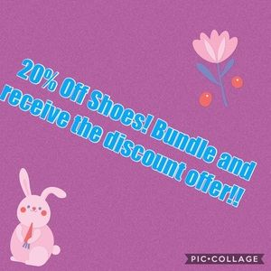 20% off shoes.